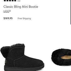 NIB Ugg boots classic w/ bling mini from Nordstrom